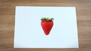 Como desenhar um morango : Como desenhar frutas