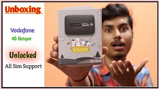 Vodafone Mobile Wifi Hotspot Unboxing | All sim support hotspot | Vodafone, Airtel, Jio 4G Hotspot ⚡