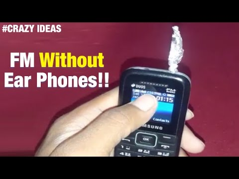 Amazing Android Hacks | How To Listen To FM Radio Without Earphones On Mobile Phone | Crazy Ideas