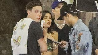 Brooklyn Beckham And Madison Beer Hanging In Hollywood