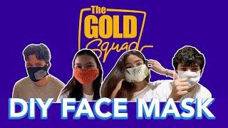 DIY FACE MASK + QUARANTINE TIPS | The Gold Squad