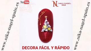 ÁRBOL de NAVIDAD 🎄 NAIL ART / Video Tutorial Nika Nagel Spain