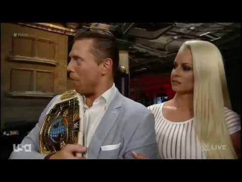 Stephanie McMahon, Corporate Kane, The Miz, and Maryse Backstage