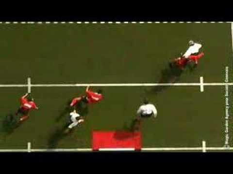 Danse aérienne / cie Les Passagers - rugby à la verticale - aerial dance