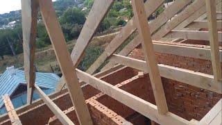 як зробити дах будинку своїми руками відео двухскатная