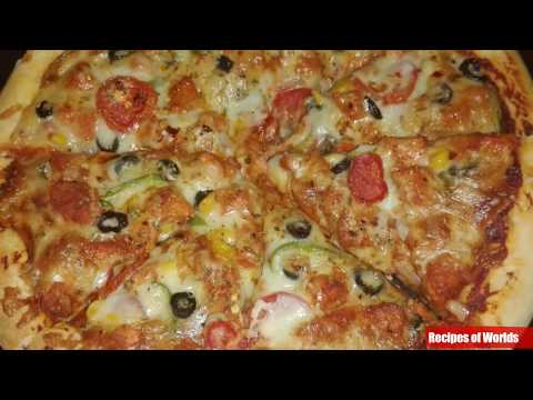 Pizza Recipe At Home,Pizza Dough Recipe, Spicy Pizza Recipe At Home