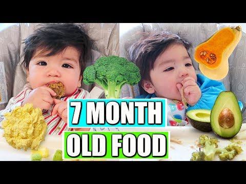 WHAT MY BABY EATS IN A DAY | 7 MONTHS OLD