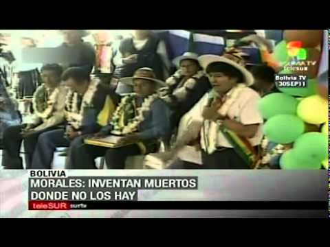 Media is manipulating info on indigenous conflict in Bolivia
