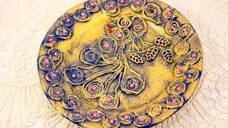 #22 техника Пейп арт мастер класс для начинающих Татьяна Сорокина декор тарелки в этно стиле