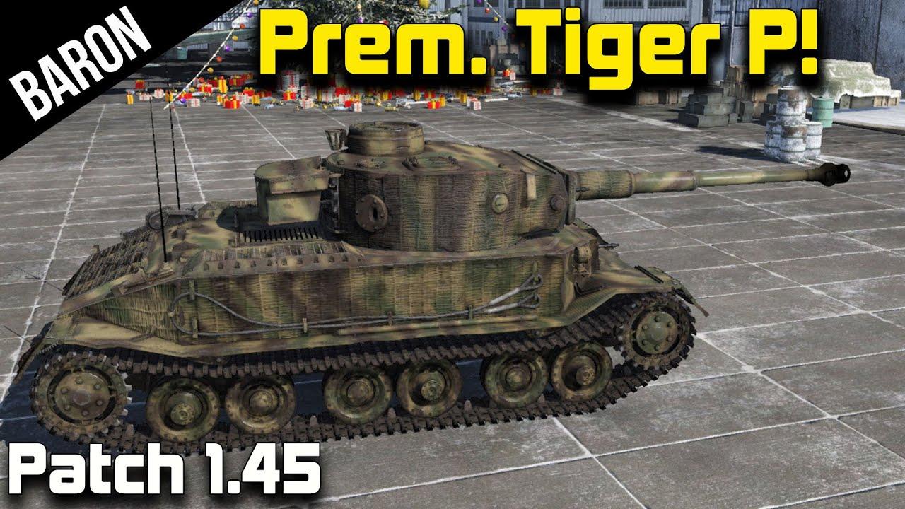 War Thunder New Tanks 1 45 Premium Tiger Porsche
