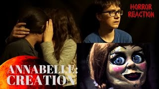 ANNABELLE: CREATION - Official Trailer KIDS MOST EPIC REACTION EVER!!!
