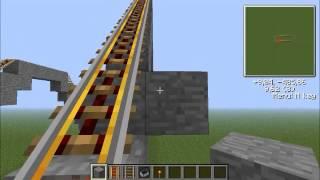 Como fazer uma montanha russa - Minecraft