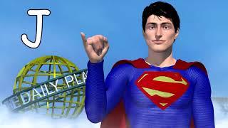 Superman American Sign Language Alphabet / ABC