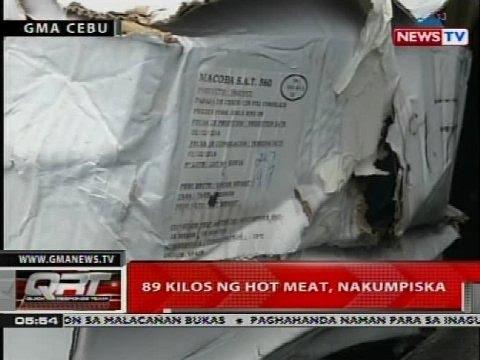 QRT: 89 Kilos Ng Hot Meat, Nakumpiska