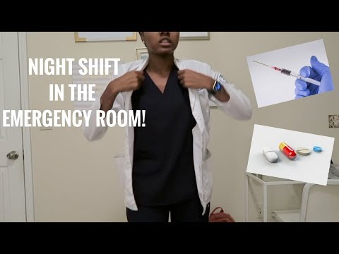 NIGHT SHIFT IN THE EMERGENCY ROOM | A Day in the Life of a Medical Student