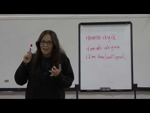 Saulteaux Language With Lynn Cote CLASS 1 #LoveYourLanguage