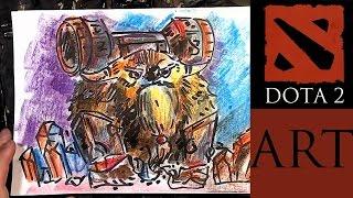 Рисую героев DOTA 2 / Как рисовать Earthshaker из Доты