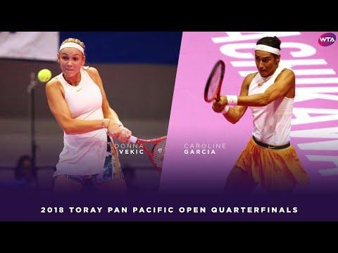 Donna Vekic vs Caroline Garcia  2018 Toray Pan Pacific Open Quarterfinals 東レPPOテニス  Highlights