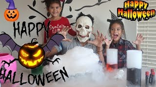 Halloween Dry Ice Science Experiment with Sam and Abby