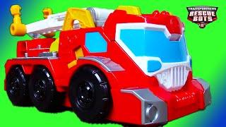 Fire Trucks for Kids: Transformers Rescue Bots Toy UNBOXING: Elite Rescue Heatwave