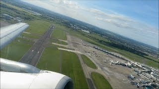 A320 Takeoff Dublin Airport & Landing Manchester Airport - Aer Lingus