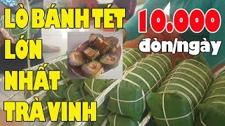 Đến lò bánh tét lớn nhất Trà Vinh tán suýt đổ em đẹp gái gói bánh kiếm 700k/1ngày