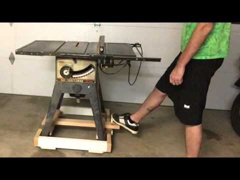 Retractable Caster Base For A Table Saw Doovi