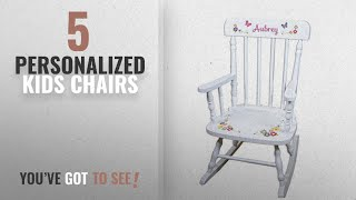 Top 10 Personalized Kids Chairs [2018]: Children's Personalized White Bright Butterfly Rocking Chair