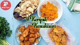 Resep 4 Keripik Populer Kekinian, Homemade Crispy Potato Chips, Tortilla Chips, BBQ Potato Chips