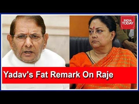 Sharad Yadav Express Regret Over Fat Remark On Vasundhara Raje