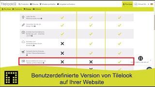 Benutzerdefinierte Version von Tilelook auf Ihrer Website