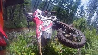 Epic Dirt Bike Single Track Ride through the lush forest in Oregon