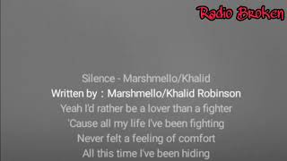 Video Lirik lagu Khalid,Marshmello - Silence download MP3, 3GP, MP4, WEBM, AVI, FLV Januari 2018