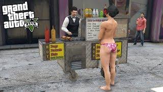GTA 5 STARTING MY OWN HOTDOG STAND BUSINESS! - SELL HOTDOGS MOD (GTA 5 REAL LIFE MOD)