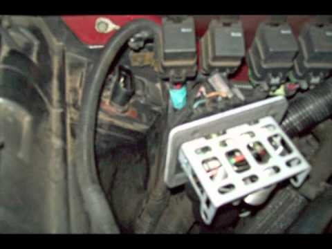 Comanche Blower Switch Wiring 1997 S 10 Blower Motor Resistor Repair Flv Youtube