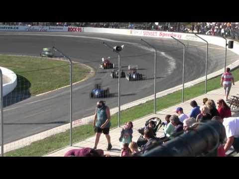 Sunset Speedway TQ Midgets Heat 1 2016 09 24
