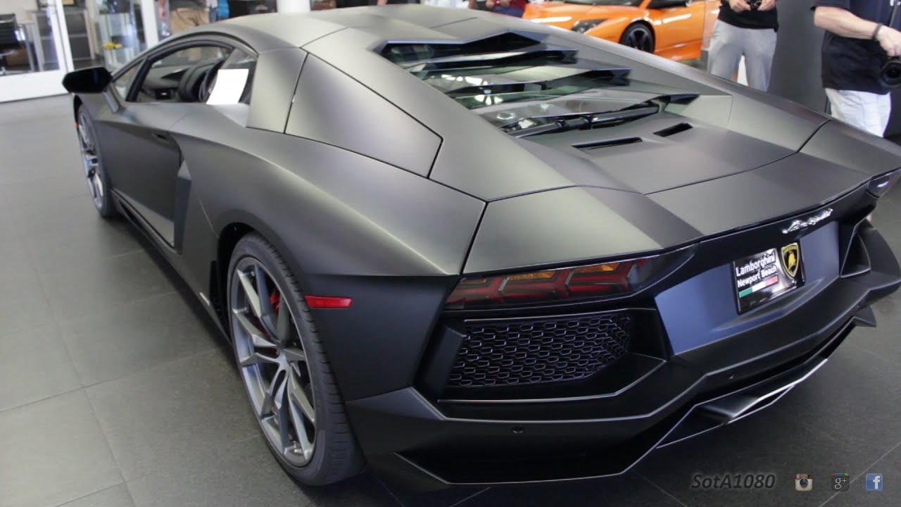 matte black lamborghini aventador for sale youtube. Black Bedroom Furniture Sets. Home Design Ideas