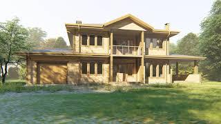 Двухэтажный каркасный дом 12х20 м. Проект КД-32. Внешний вид
