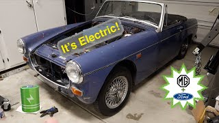 MG Midget EV Conversion Part13 Driving Time!