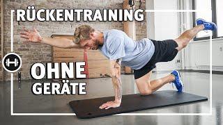 Rückentraining für zu Hause - Workout ohne Geräte - 8 Übungen | Sport-Thieme