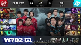 100 Thieves vs CLG | Week 7 Day 2 S10 LCS Summer 2020 | 100 vs CLG W7D2