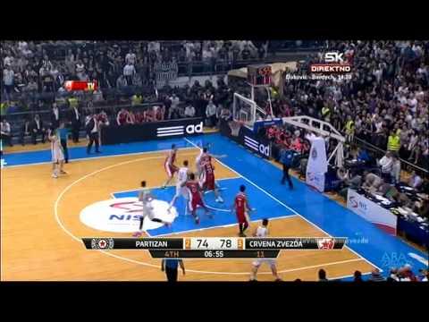 Partizan - Crvena zvezda Telekom | Blokada Kalinića [Plejof ABA lige, 18.04.2015]