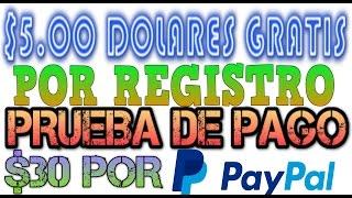 $5.00 Dolares GRATIS Por Registro y Prueba de PAGO por ENCUESTAS por INTERNET