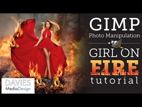 GIMP Tutorial: Girl on Fire Photo Manipulation