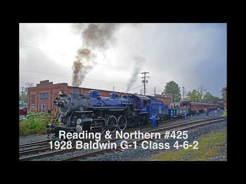 Steam Locomotive Sounds: Reading & Northern #425