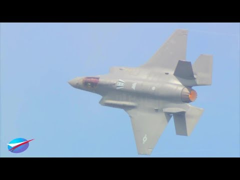 Paris Air Show - F-35A Stealth Fighter Full Aerial Flight 2017 [1080p]