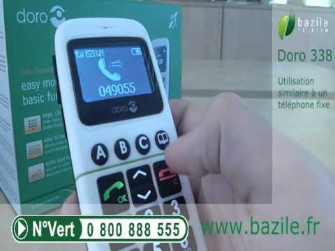 Doro 338GSM présenté par Bazile Telecom
