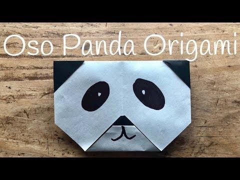 Oso panda de origami, animal de papel para niños