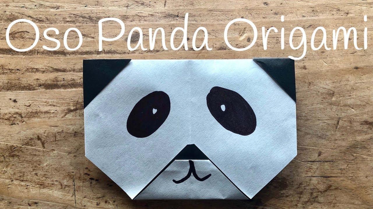 OSO PANDA de papel | ORIGAMI fácil para NIÑOS - YouTube