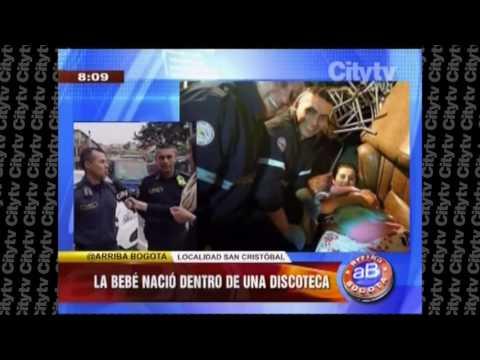 Bomberos de Bogota recibieron el nacimiento de un niño en Discoteca  CityTv |